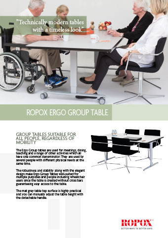 Data leaflet Ropox Ergo Group Table
