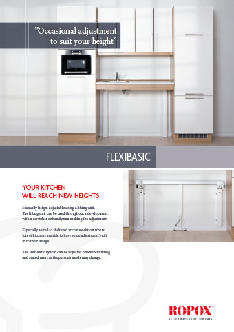 Data leaflet Ropox Kitchen Worktops Flexibasic