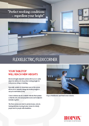 Data leaflet Ropox Kitchen Worktops FlexiElectric/FlexiCorner