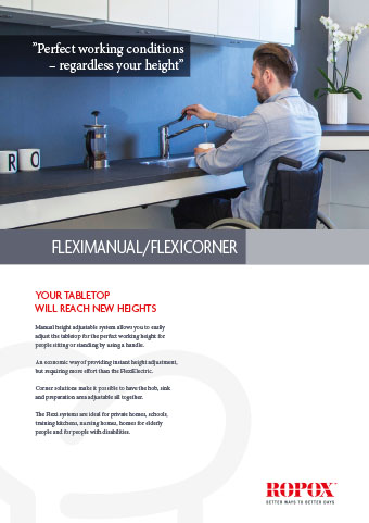 Data leaflet Ropox Kitchen Worktops FlexiManual/FlexiCorner