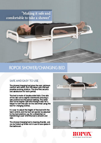 Ropox Shower/Changing Bed