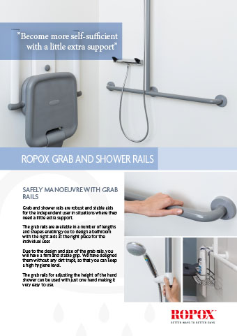 Data leaflets Ropox Bathroom Grab and Shower rails