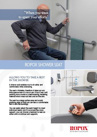 Data leaflet Ropox Bathroom Shower seat