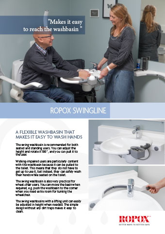 Data leaflet Ropox SwingLine Washbasin