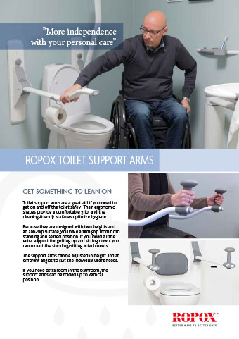 Data leaflet Ropox Bathroom Toilet Support Arms