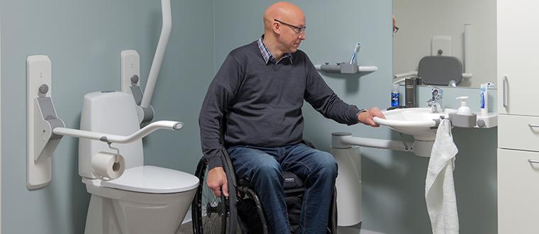 SwingLine washbasin / håndvask with wheelchair