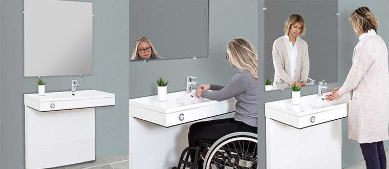 VanityLine washbasin / håndvask with user
