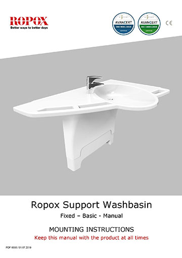Ropox monteringsvejledning - Support Washbasin Fixed-Basic-Manual