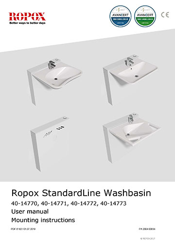 Ropox user & mounting manual - StandardLine Washbasin