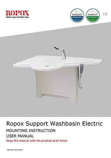 Ropox user & mounting manual - Support Washbasin Electric