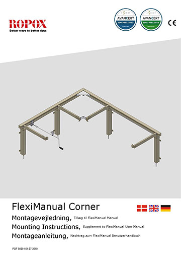 Ropox user & mounting manual - FlexiCorner Manual Addition