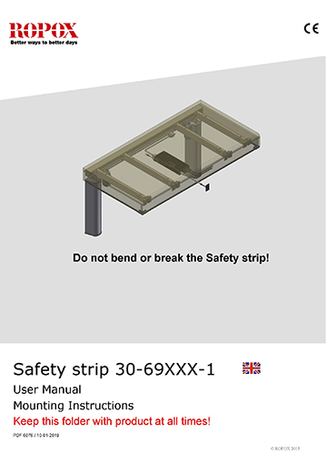 Ropox user & mounting manual - Safety strip