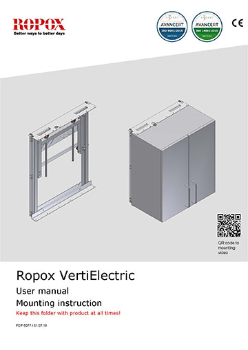 Ropox user and mounting manual - VertiElectric