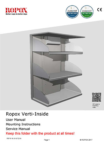 Ropox user and mounting manual - VertiInside