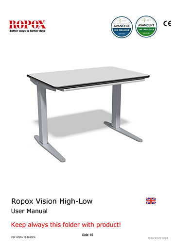 Ropox user & mounting manual - Vision High-Low