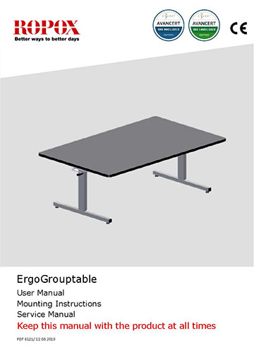 Ropox user & mounting manual - ErgoGroupTable
