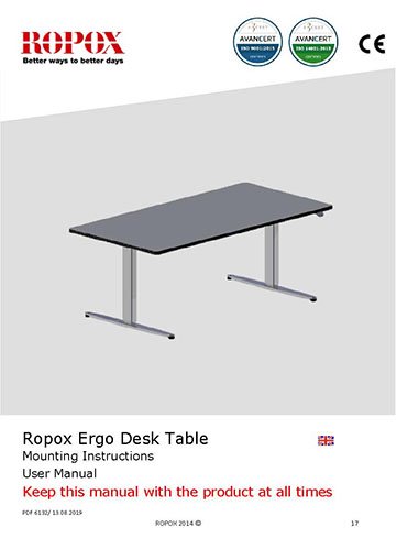 Ropox user & mounting manual - ErgoDesk