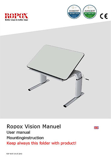 Ropox user & mounting manual - Vision Table Manuel