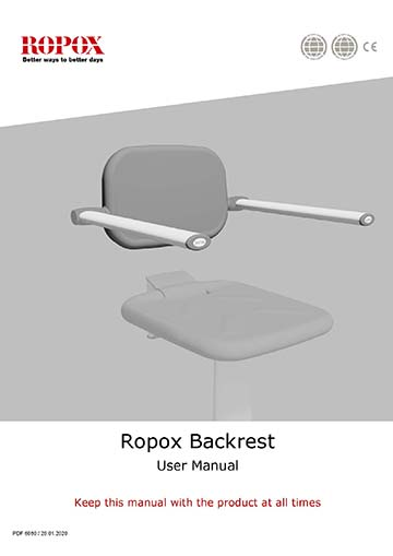 Ropox user & mounting manual - Height Adjustment Unit for Shower Seat