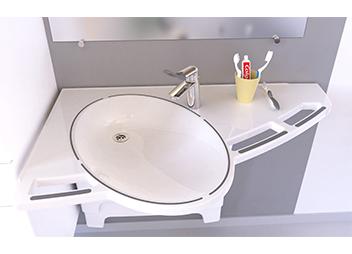 Højdeindstillelig håndvask demens koncept for demente