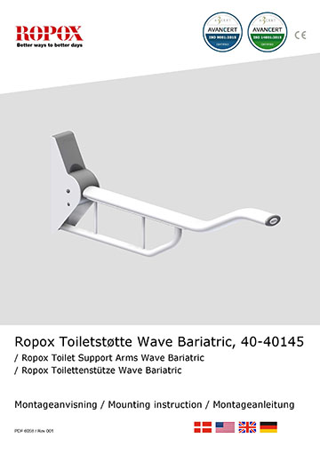 Ropox Installation manual for toilet support arms, wave bariatric