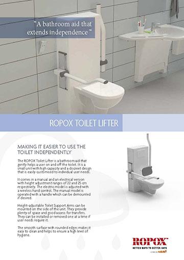 Data leaflet Ropox Toilet Lifter